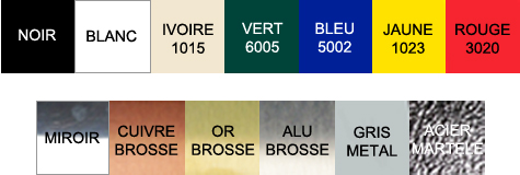 Lettrage dibond couleurs